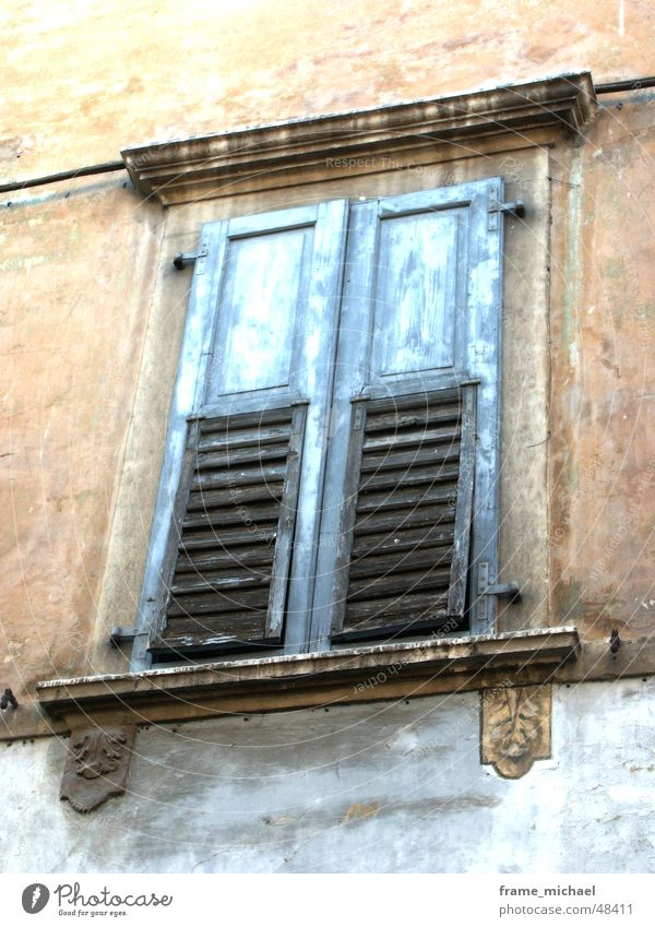Closed Window Terracotta Italy South
