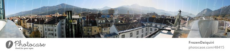 Innsbruck south panorama Federal State of Tyrol South Panorama (View) Town Roof Sunbathing Relaxation stitched Sky Mountain chilling rooftop terrace Large