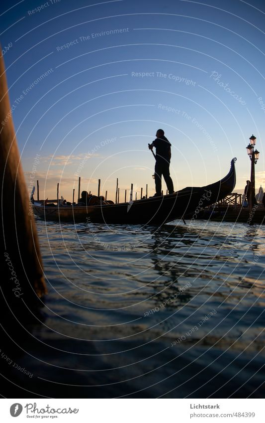 venice in autumn Vacation & Travel Tourism Trip Sightseeing City trip Ocean Waves Human being Masculine Life Environment Nature Water Sky Sunrise Sunset Autumn