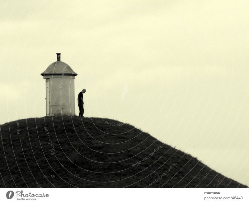 depression Man Hill Meadow Loneliness Mountain Sky deprssion
