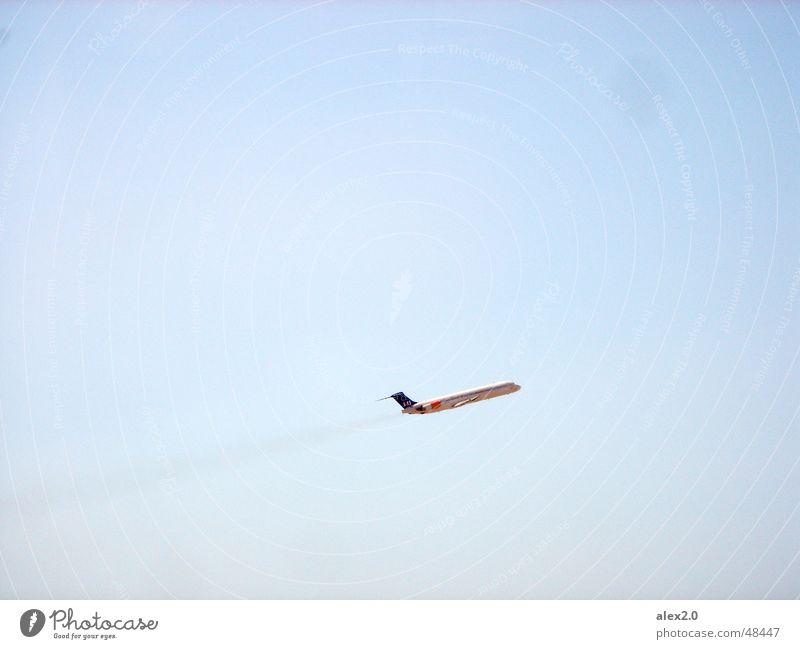 Step on the gas again Airplane Airplane takeoff Sky sas Blue