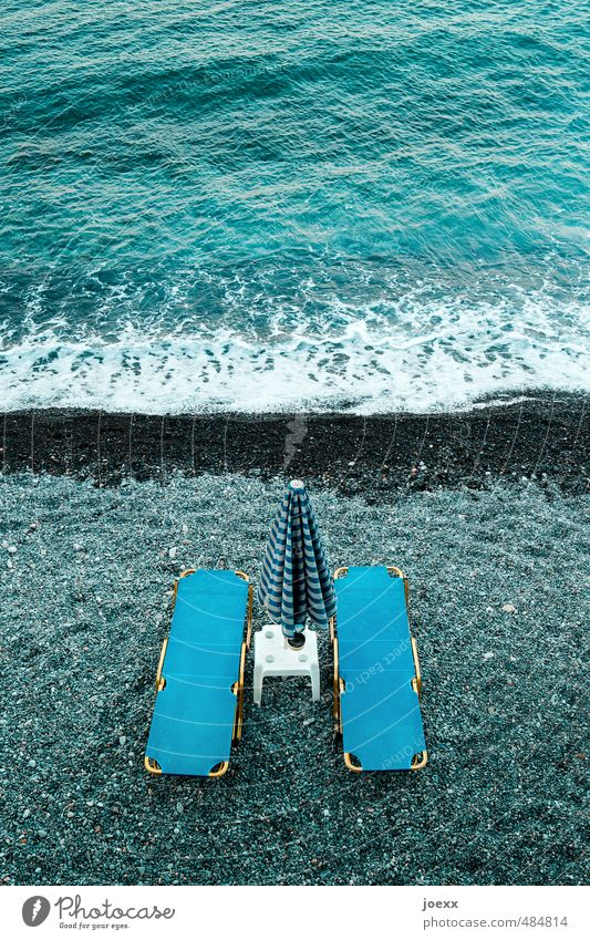 Vacation & Travel Blue White Water Summer Ocean Relaxation Calm Beach Black Swimming & Bathing Waves Tourism Clean Couch Wellness