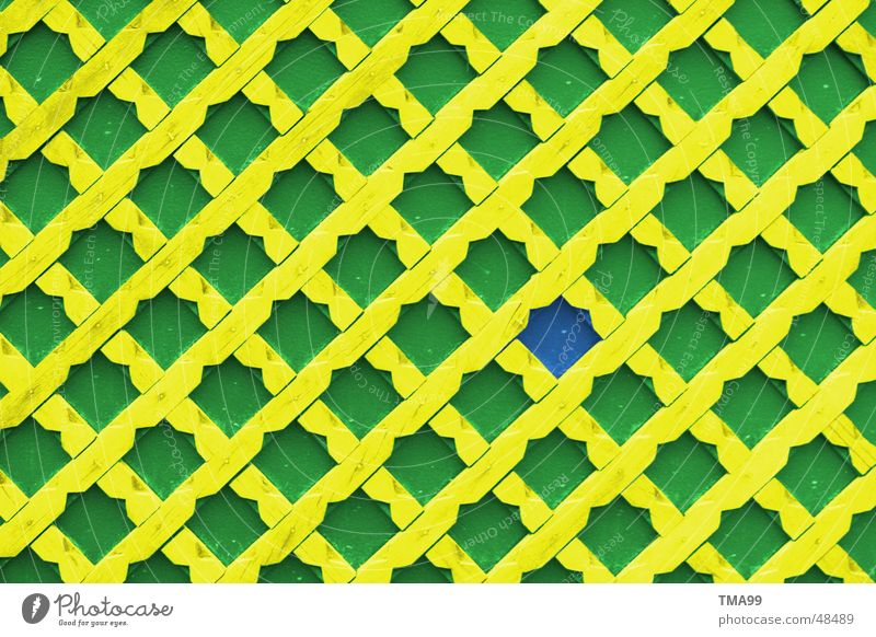 stupid Wall (building) Pattern Yellow Green Background picture Blue hagenbek
