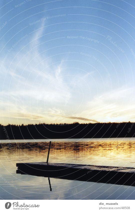 Water Sky Sun Ocean Forest Lake Moody Orange Footbridge