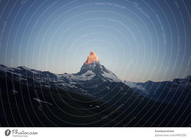 Sky Nature Blue Summer Landscape Environment Mountain Stone Exceptional Rock Orange Illuminate Tourism Peak Sign Alps