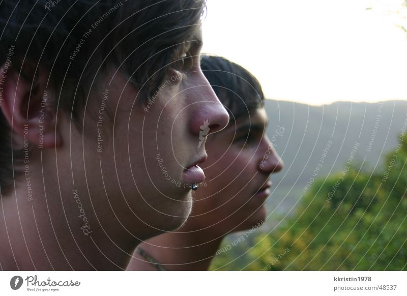 Flexible Faces Vantage point 2 Thuringia faces Human being Double exposure boys Looking