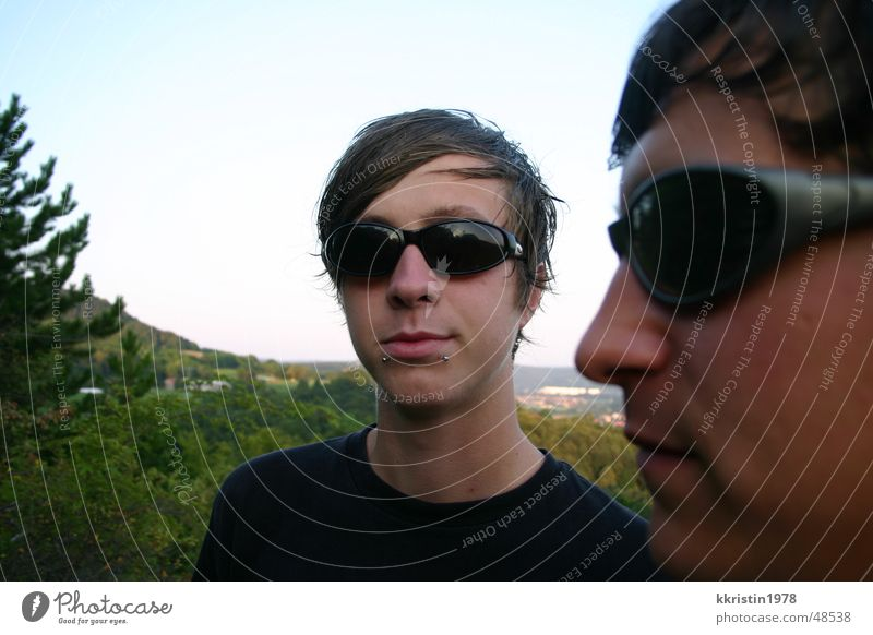 Flexible Faces 2 Man Vantage point Thuringia Sunglasses faces Human being boys Double exposure Looking