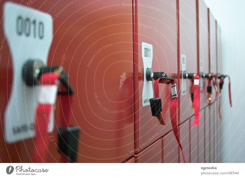 Red Closed Safety Mysterious Hide Key Room Flexible 10 Cupboard 11 Changing room Lockbox