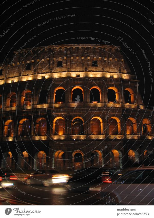 Rome Colosseum Night Europe Italy Historic Long exposure Speed Exterior shot Old Architecture