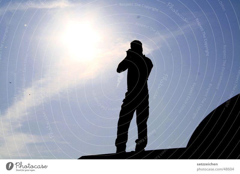 Man Sky Sun Clouds Roof Infinity Photographer Light Flashy Focal point