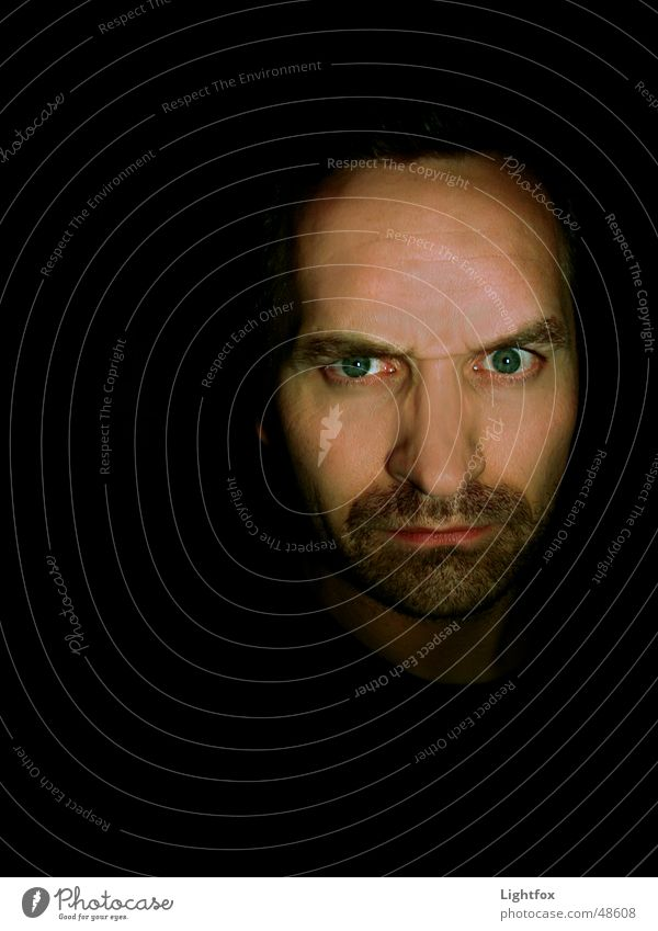 Human being Man Face Eyes Dark Fear Nose Creepy Facial hair Digital photography Frightening Monster