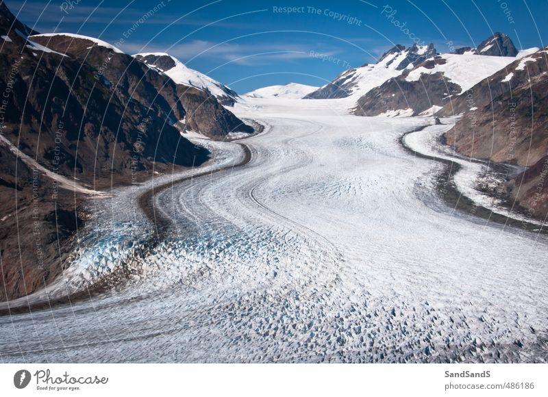 Salmon Glacier Tourism Snow Mountain Sky Blue USA Alaska america British Columbia border Canada columbia Hyder ice lines North peak stewart Tourist water