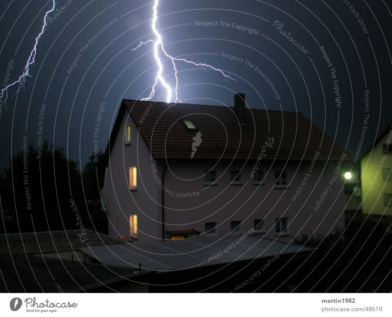 House (Residential Structure) Lightning Thunder and lightning Storm