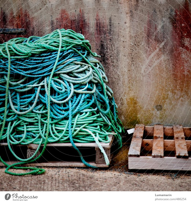 Blue Wall (building) Wall (barrier) Wood Arrangement Large Empty Tall Concrete Rope Logistics Turquoise Long Navigation Craft (trade) Trade