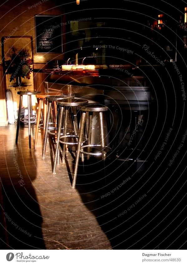 Sun Berlin Metal Brown Room Bar Gastronomy Counter Leather Stool Roadhouse Cocktail bar
