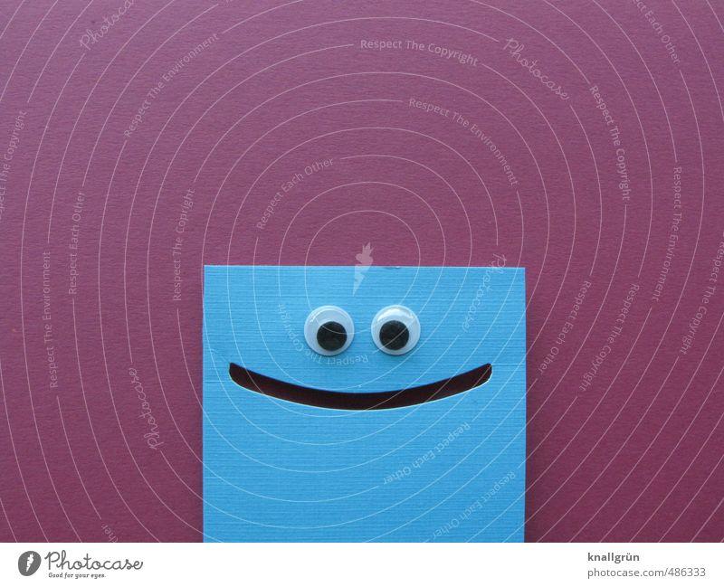 Blue Joy Emotions Funny Contentment Smiling Happiness Cute Creativity Uniqueness Friendliness Joie de vivre (Vitality) Violet Positive Sharp-edged Grinning