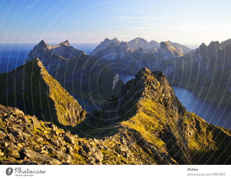Lofoten XV Life Well-being Contentment Senses Relaxation Calm Meditation Vacation & Travel Adventure Far-off places Freedom Mountain Hiking Nature Landscape