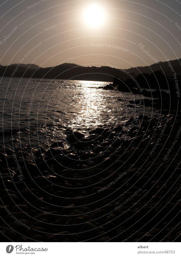 Water Sun Ocean Beach Dark Majorca Paguera