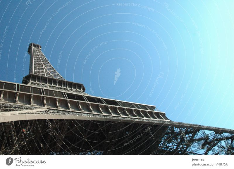 Sky Large Tower Paris Steel Monument France Eiffel Tower Structural engineering