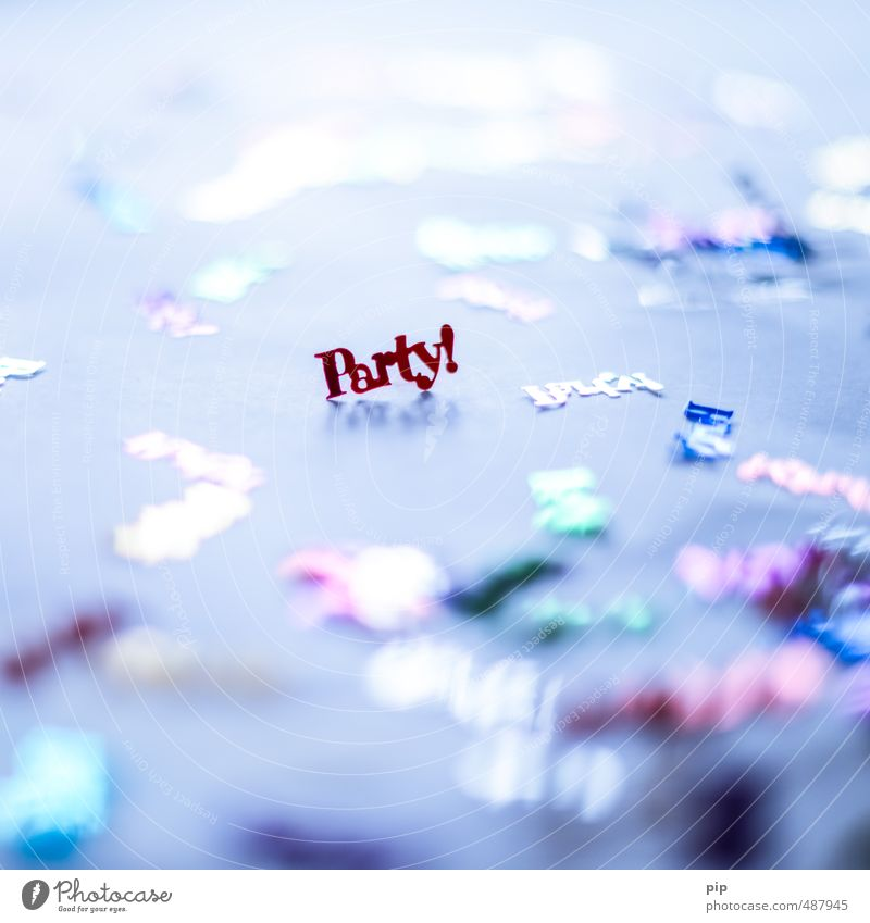 party mood Party Feasts & Celebrations Carnival Birthday Tinsel Confetti Party mood Party space Glittering Typography Kitsch Moody Colour photo Multicoloured