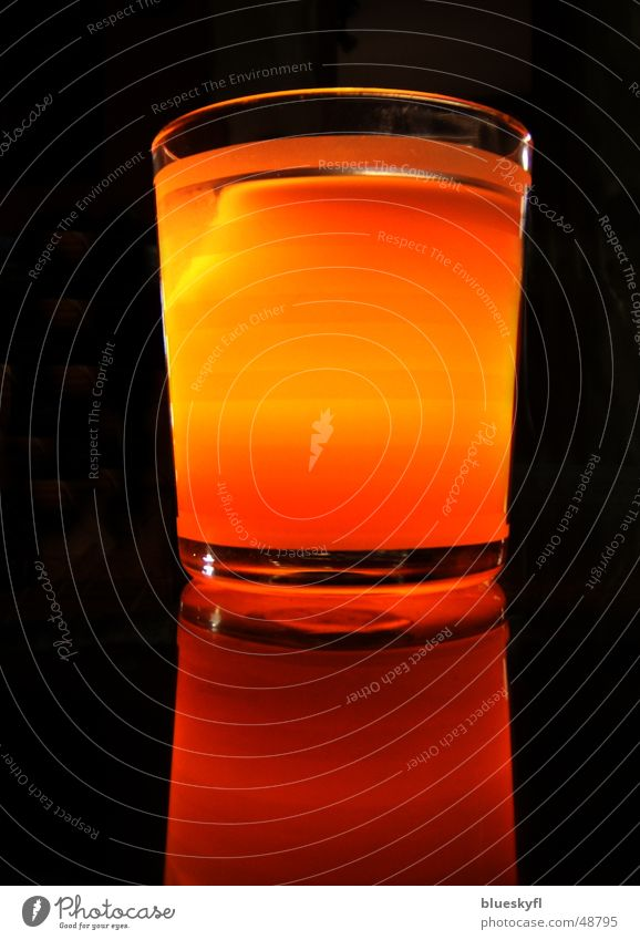 Dark Warmth Moody Orange Glass Modern Candle Romance Mirror Harmonious