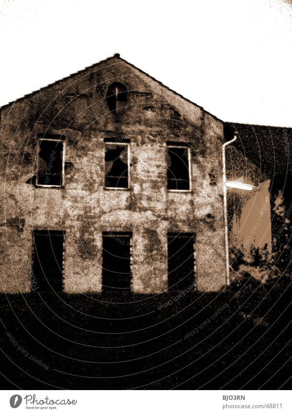 House (Residential Structure) Dark Window Building Industrial Photography Factory Roof Warehouse Osnabrück district