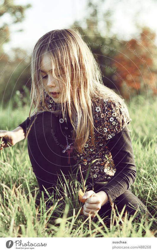 Human being Child Nature Hand Girl Face Environment Eyes Autumn Hair and hairstyles Head Air Body Leisure and hobbies Skin Infancy