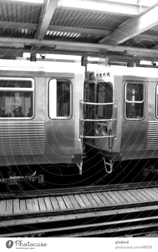 CTA Train - Chicago Carriage Black White Railroad train wagon Black & white photo