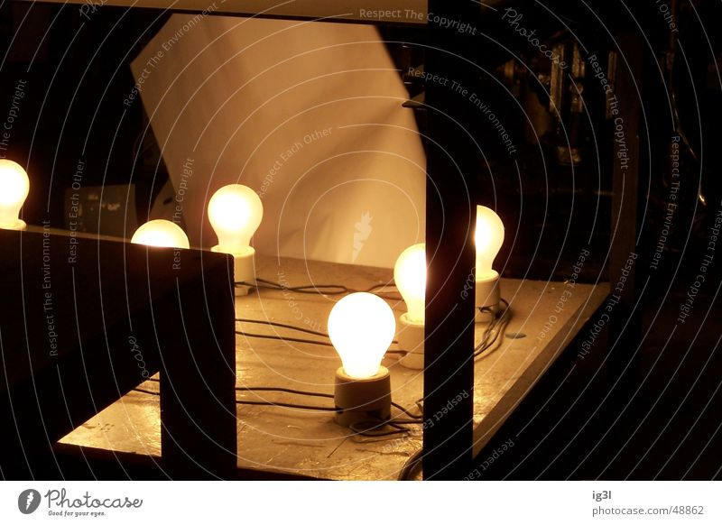 Lamp Dark Lighting Electricity Glow Impression