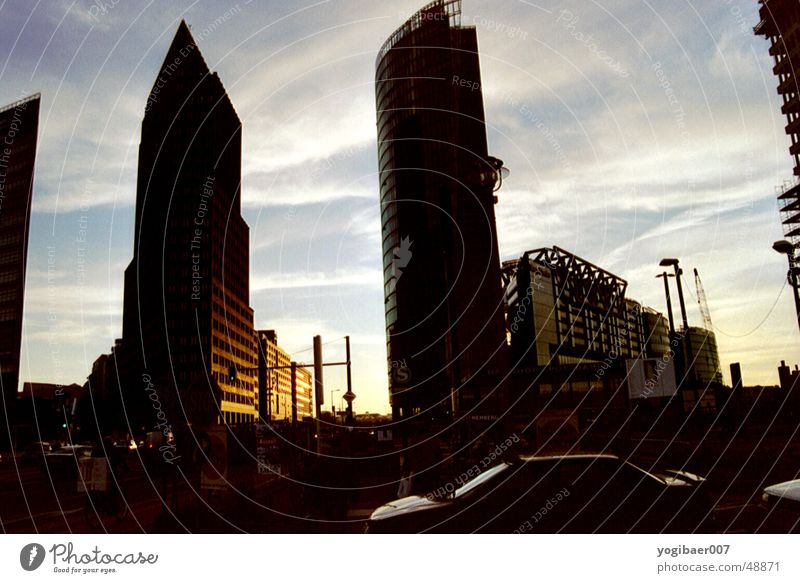 Sun Berlin Building Moody Places Potsdamer Platz Dusk Evening sun Sony Center Berlin