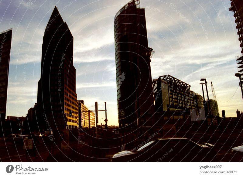 Sun Berlin Building Moody Places Potsdamer Platz Dusk Evening sun Sony Center Berlin