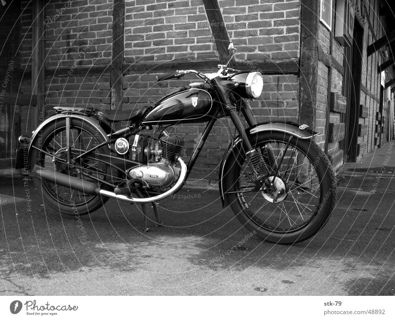 Old Motorcycle Scooter