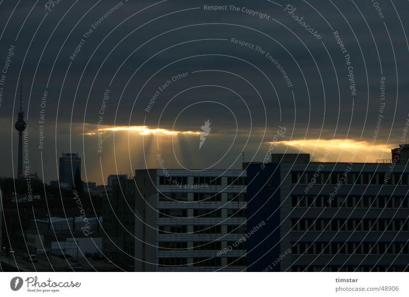 Sky Sun Clouds Berlin Berlin TV Tower Breach