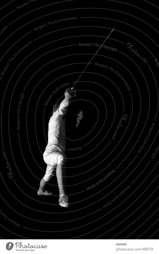 Failure 1 Fencing Dark Light Martial arts Fighter Protective clothing Weapon Sword Breakdown Sporting event Black & white photo Contrast Sports Sportsperson