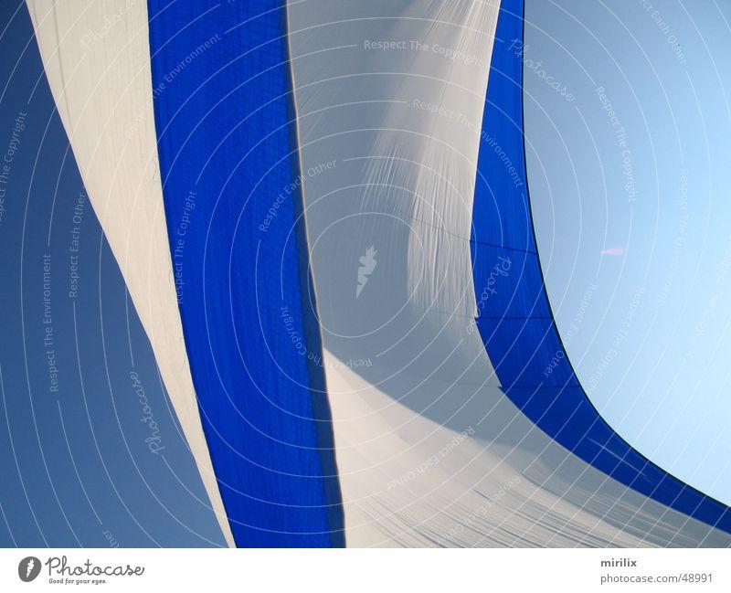 Sky White Ocean Blue Wind Beautiful weather Sail Rag Spinnaker