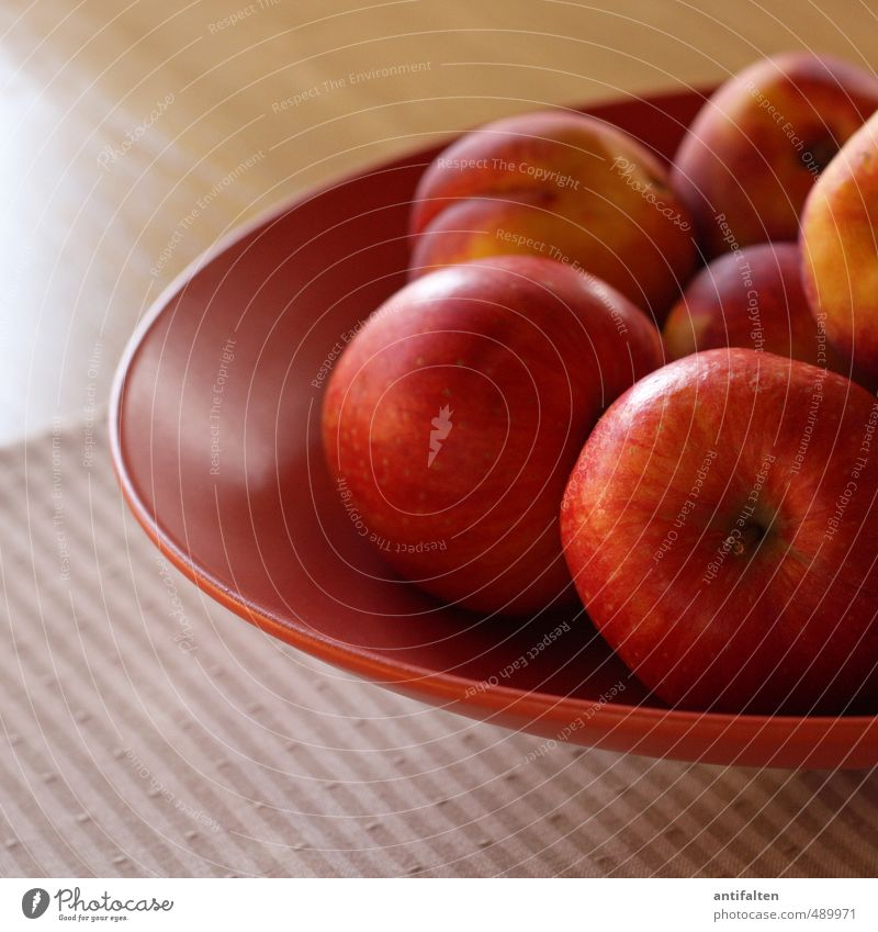 Apples and nectarines Food Fruit Nectarine Nutrition Vegetarian diet Bowl Healthy Healthy Eating Living or residing Flat (apartment) Interior design Decoration