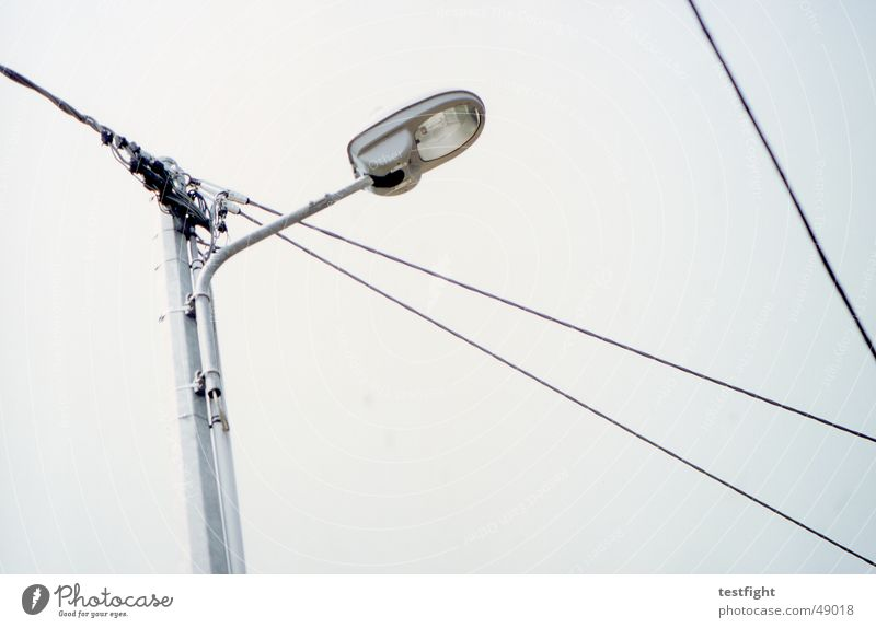 Sky Clouds Lamp Lighting Cable Lantern Street lighting Bad weather Exterior lighting