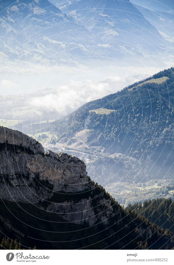 downhill Environment Nature Rock Alps Mountain Valley Natural Blue Colour photo Exterior shot Deserted Day Panorama (View)