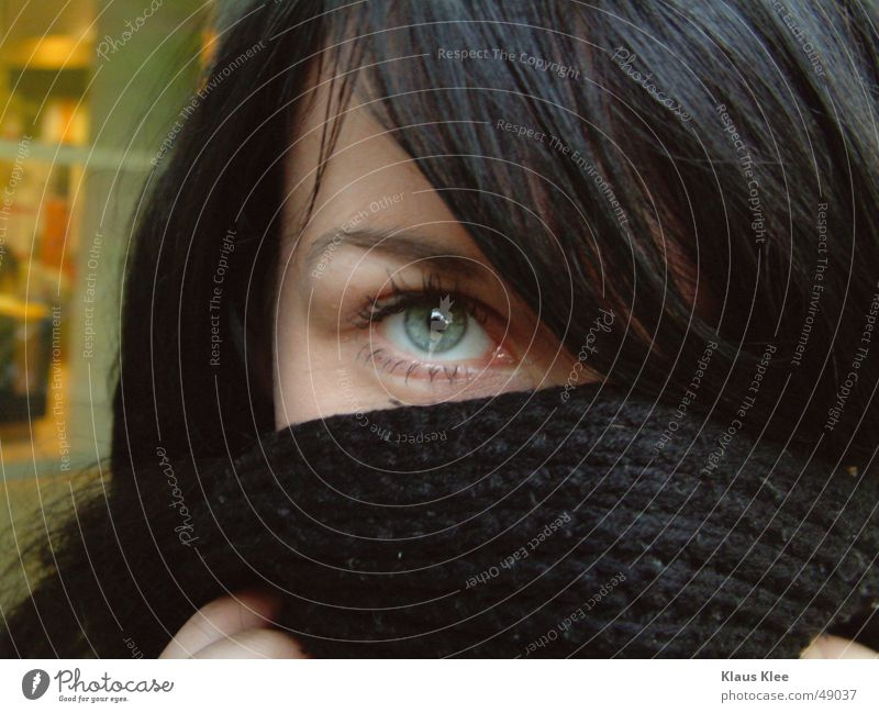 Woman Beautiful Eyes Yellow Feminine Window Head Near Strong Direct Dusk Timidity Eyebrow Black-haired Memorable