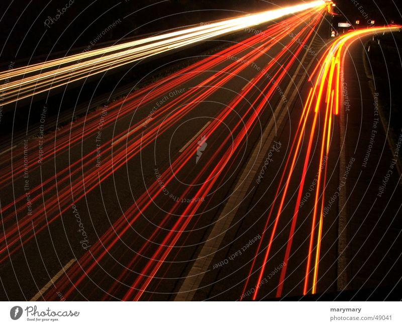 exit Night Highway Transport Light Rear light Street Highway ramp (exit) cars traffic Floodlight