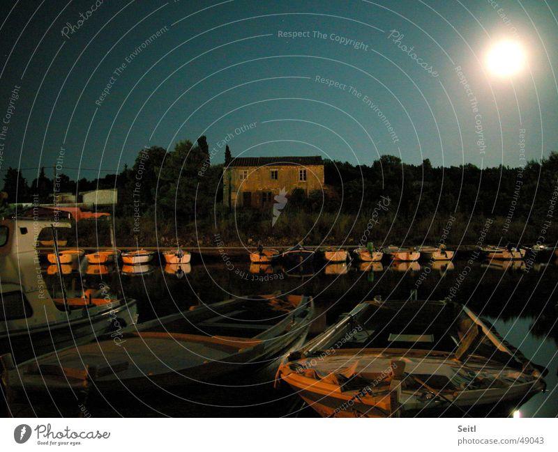 Sky Ocean Watercraft Moody Lighting Harbour Moon Fisherman Croatia Country house Kornati
