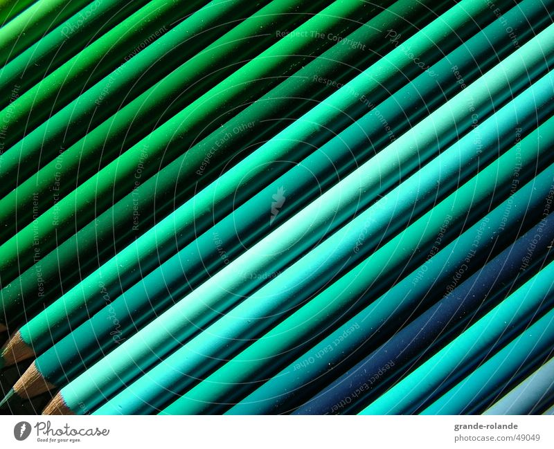green is beautiful Green Pen Art Selection Palett Diagonal Colour selection Artist Draw Painting (action, work) drawing