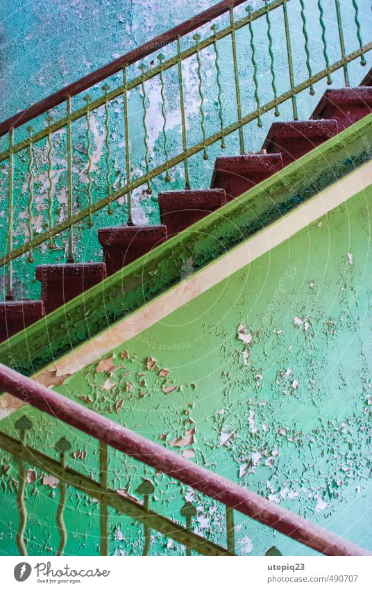 Stairways to ... Redecorate Interior design Decoration inspire Deserted House (Residential Structure) Building Architecture Wall (barrier) Wall (building)