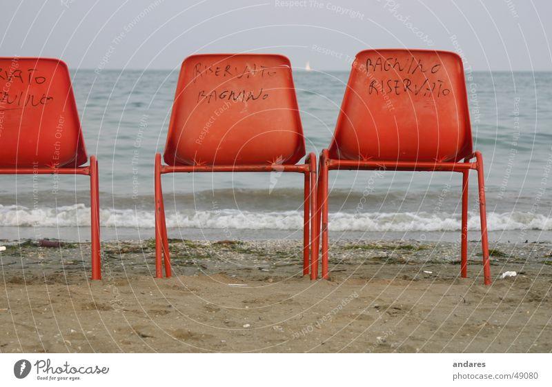Ocean Beach Sand Orange Horizon Romance Longing Seating Armchair