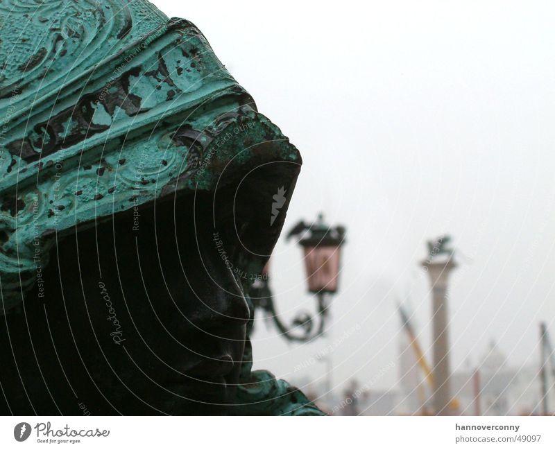 Venebular Venice Statue Fog St. Marks Square Palace of Doge Helmet Watchfulness