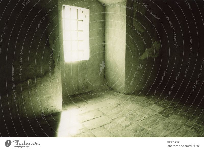 glimmer of hope Light Old building Building Grating Sunlight Tunnel Malaga Andalucia Spain Background picture Calm Captured Awareness Slope Penitentiary Room