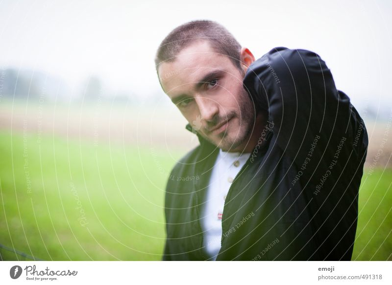 morning mist Masculine Young man Youth (Young adults) Face 1 Human being 18 - 30 years Adults Brunette Short-haired Designer stubble Beautiful Colour photo