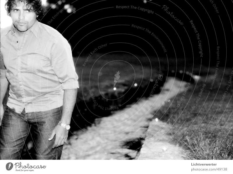 cold way Man Portrait photograph Intuition Water Fear Looking Primordial