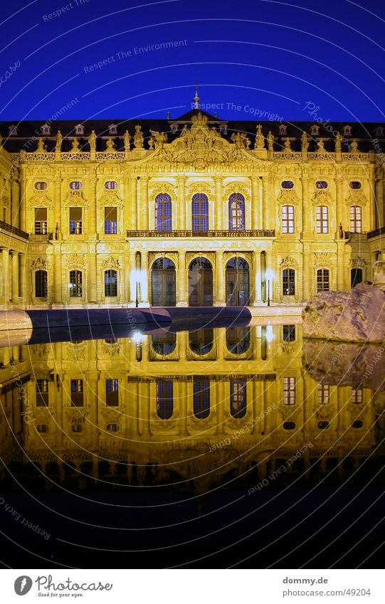 Old Blue Yellow Window Door Mirror Well Franconia Würzburg