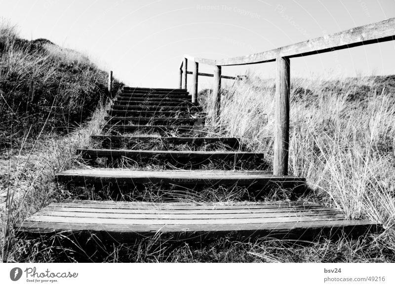 White Ocean Black Wood Landscape Stairs Footbridge Beach dune Sylt